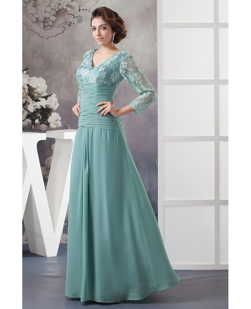 Fall Mother of the Bride Dresses With Sleeves 2016 A-line ...