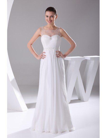 Pretty Empire Waist Long Chiffon Maternity Wedding Dress
