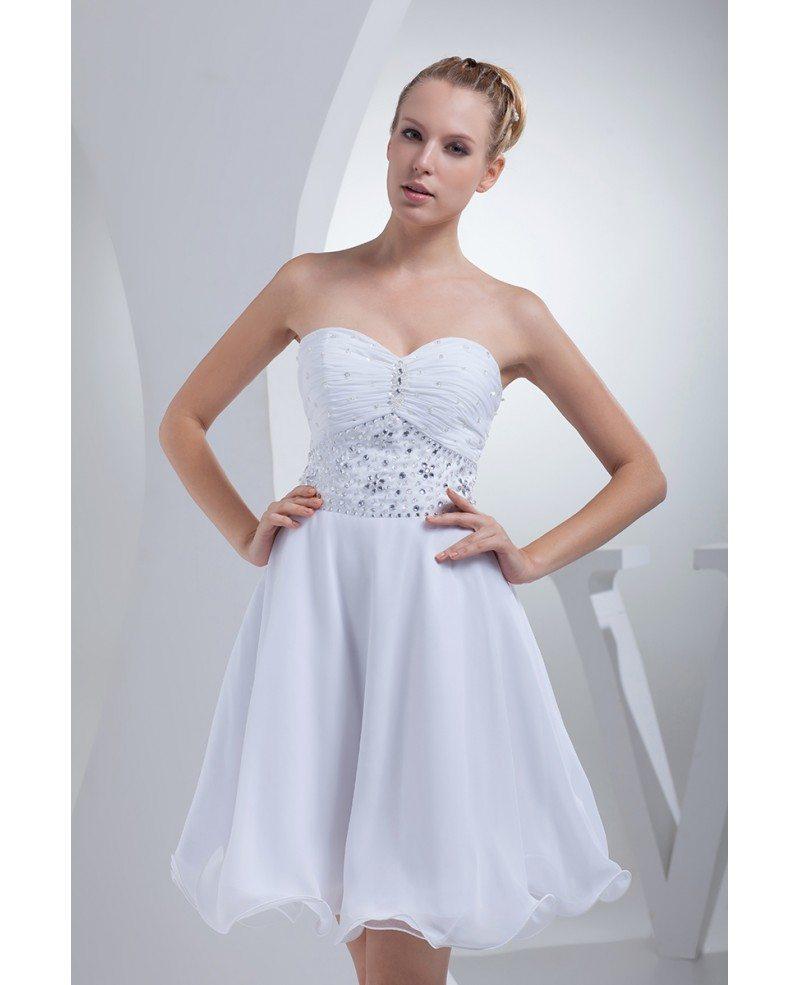 Simple Short Wedding Dresses 2017 Summer Beaded Sweetheart