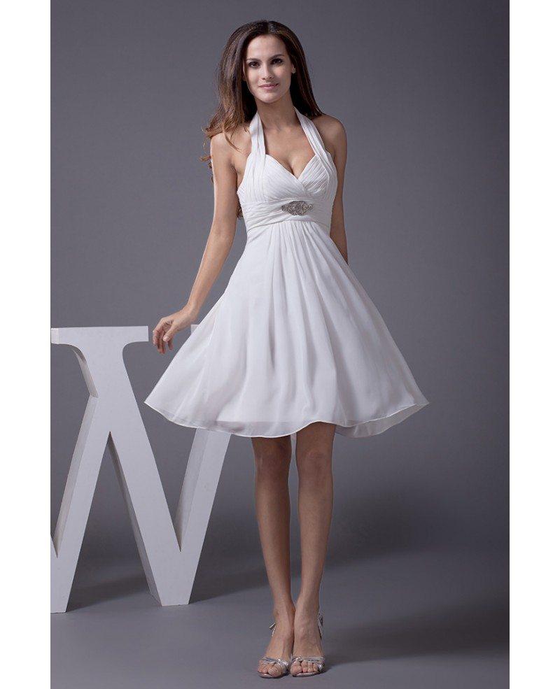 Short Halter Wedding Dress Off 71 Buy