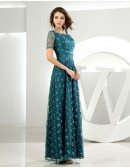 A-line Scoop Neck Floor-length Tulle Mother of the Bride Dress