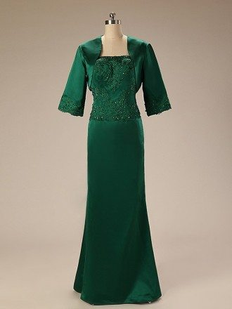 A-Line Strapless Floor-Length Dress With Beading