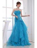 Meramid Sweetheart Floor-length Tulle Wedding Dress With Beading