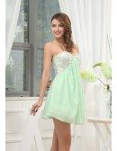 A-line Sweetheart Short Chiffon Homecoming Dress With Sequins
