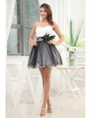 A-line Sweetheart Short Tulle Homecoming Dress