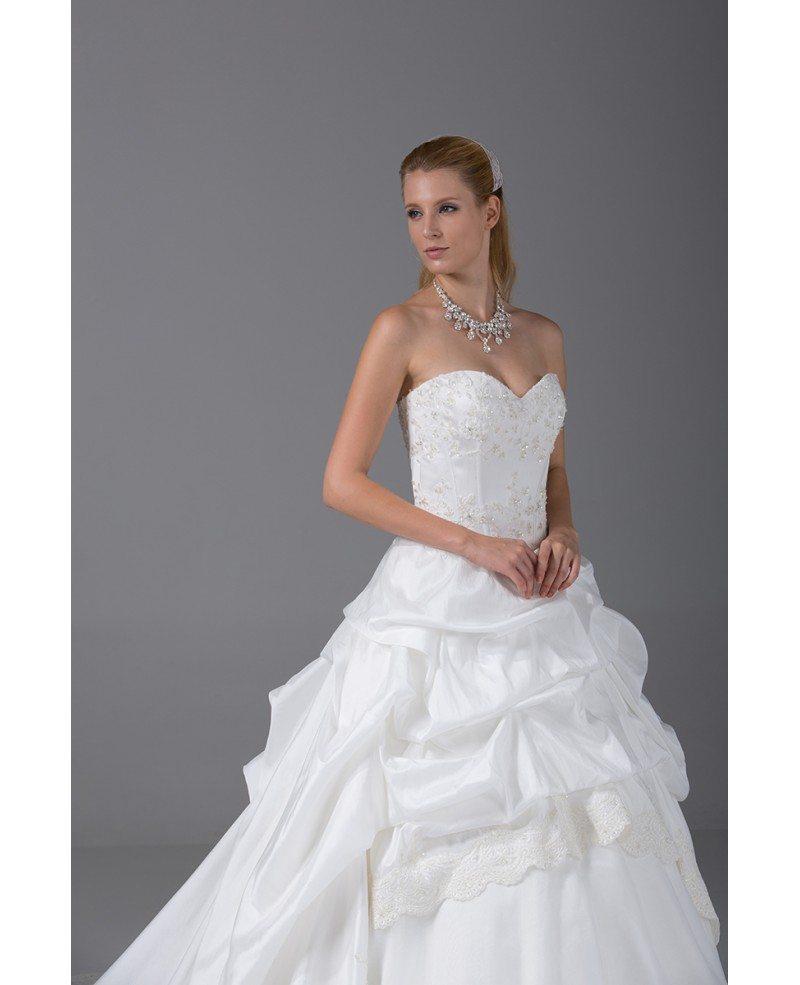 All Lace Wedding Dress: Ballgown Taffeta Lace Sweetheart Taffeta Wedding Dress