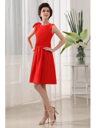 A-line High Neck Knee-length Chiffon Cocktail Dress