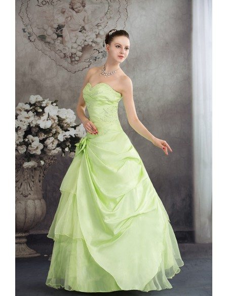 Clover Green Sequined Color Wedding Dress Sweetheart with Corset