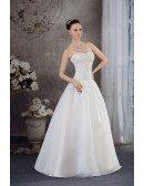 Handmade Beaded Ballgown Wedding Dress Sweetheart