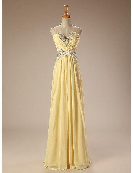 Beaded Neckline Empire Lace Chiffon Long Prom Dress Real Sample