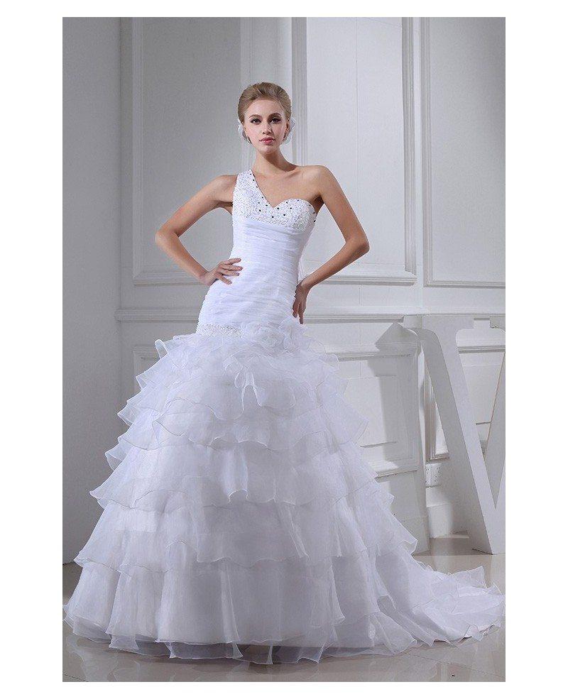 strapless ruffle wedding kleid