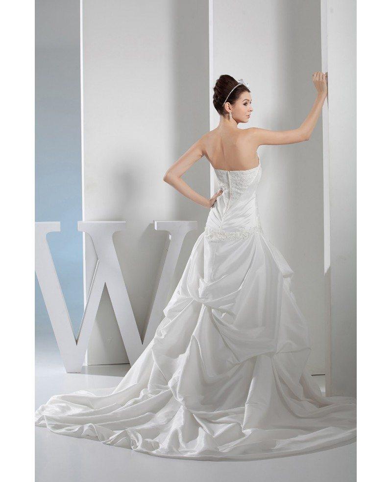 Lace Taffeta Sweetheart Wedding Gown Ruffled #OPH1352 $329