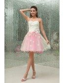 A-line Sweetheart Short Tulle Homecoming Dress With Flowers