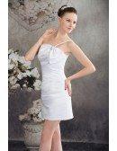 Sheath One-shoulder Satin Wedding Dress