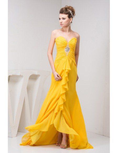 Mermaid Sweetheart Asymmetrical Chiffon Evening Dress