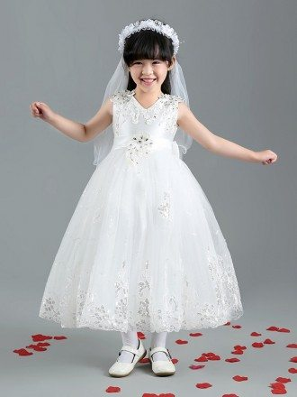 Long Sequins Lace Ballroom Pageant Dress with Bow Back