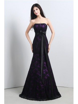 Mermaid Strapless Court-train Prom Dress