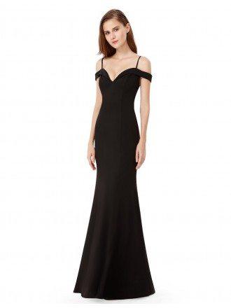Sexy A-line Off-the-shoulder Floor-length Evening Dress