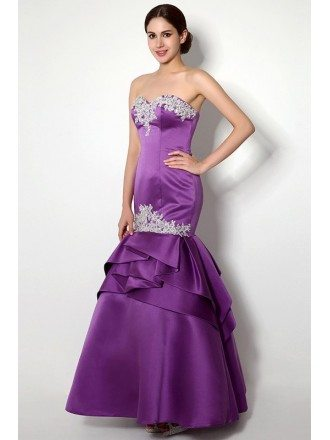 Mermaid Sweetheart Floor-length Prom Dress