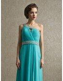 Sequined One Shoulder Pool Elegant Long Bridal Party Dress