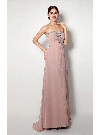 Sheath Sweetheart Floor-length Bridesmaid Dress