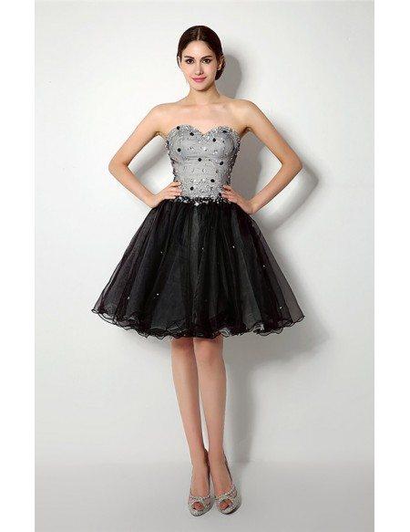Short Sweetheart Knee-length Prom Dress