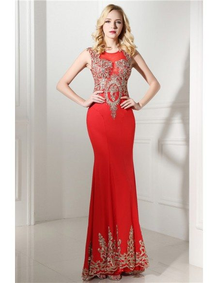 Mermaid Scoop Floor-length Prom Dress