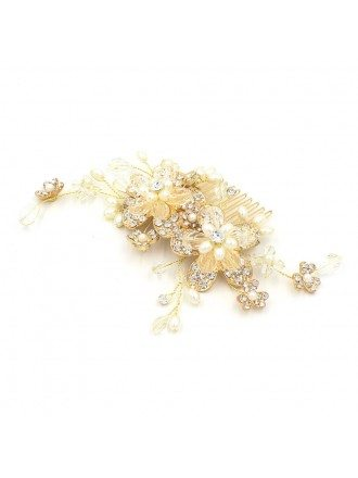 Floral Wedding Hair Comb Bridal Headpieces