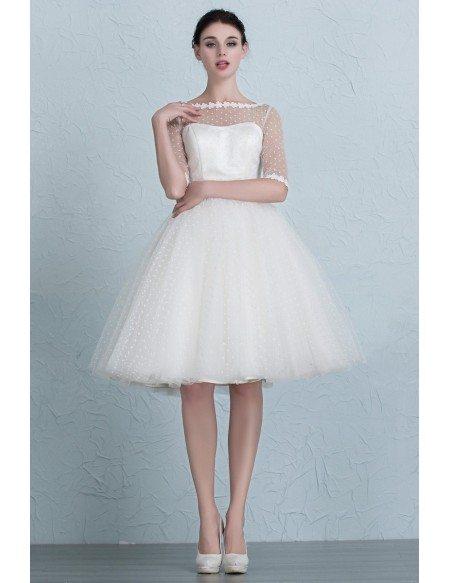Polka Dot Tulle Short Dresses
