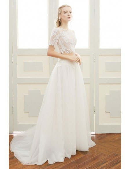 A Line Beach Wedding Dress Boho