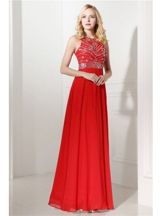 Halter Top And Mini Prom Dress with Beading