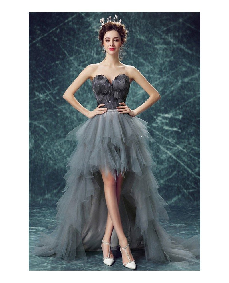 Special Ball Gown Sweetheart High Low Formal Dress With Cascading Ruffles Tj046 179 Gemgrace Com
