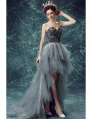 Special Ball-gown Sweetheart High Low Formal Dress With Cascading Ruffles