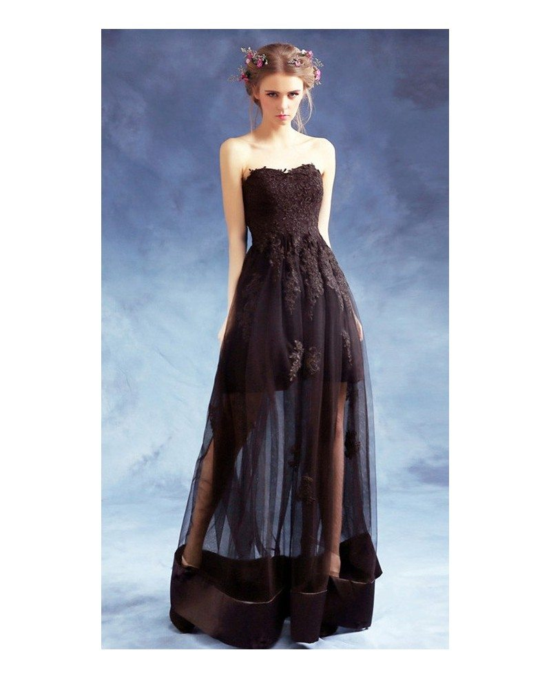 Sexy A-line Sweetheart Floor-length Tulle Formal Dress