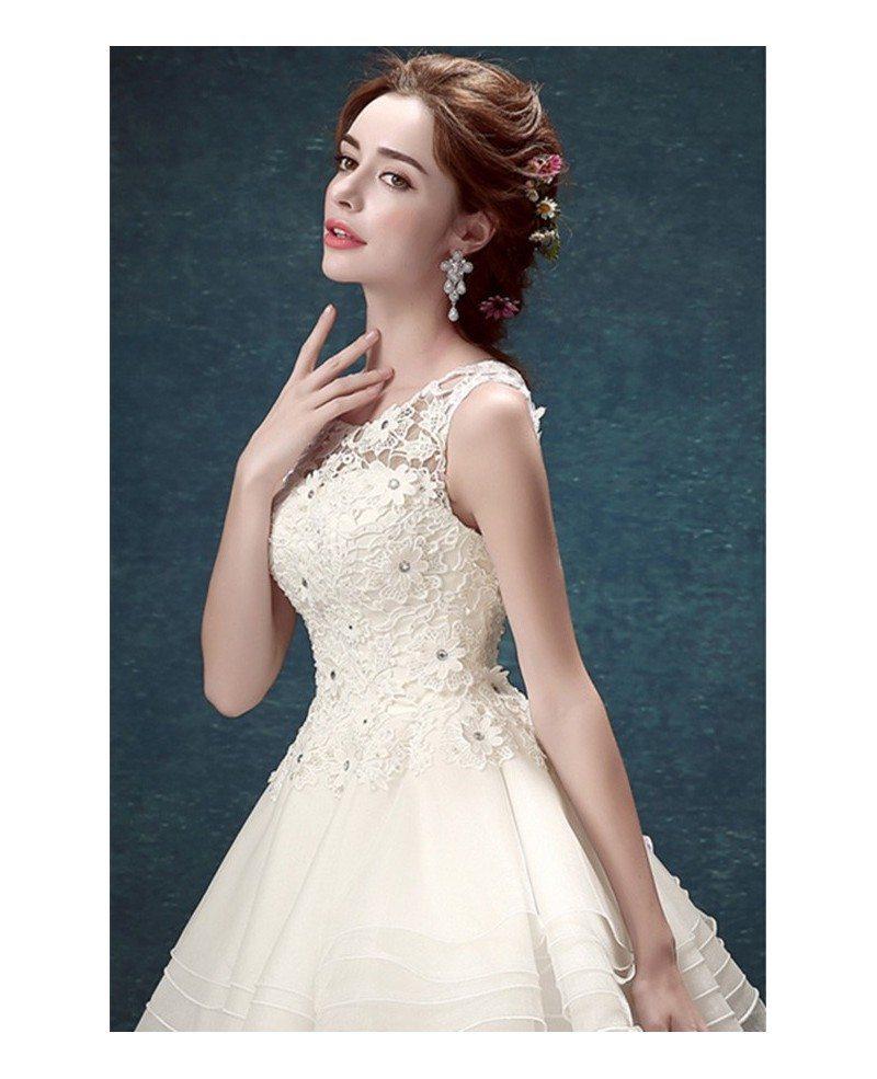 Ivory 2017 Short Wedding Dresses Backless For Reception