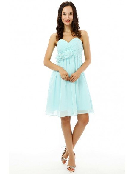 Pool A-line Sweetheart Knee-length Prom