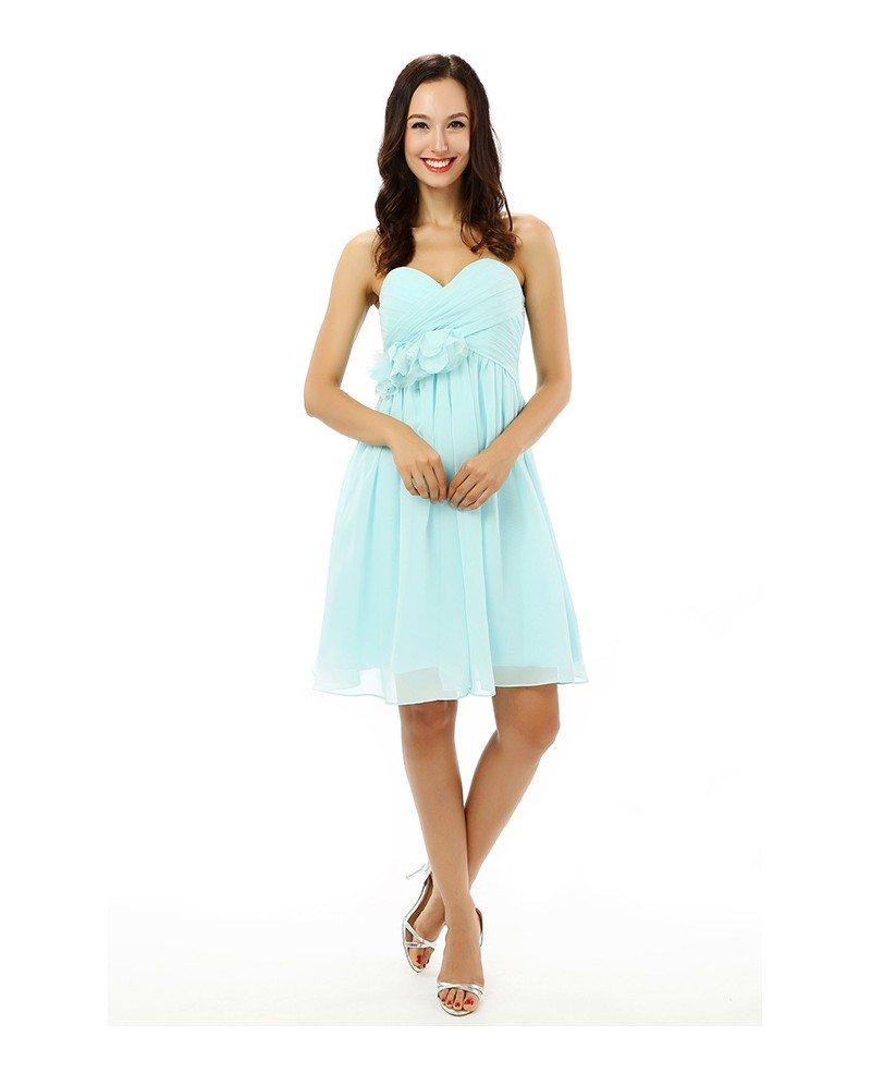 Pool A-line Sweetheart Knee-length Prom Dress