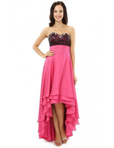 A-line Sweetheart Knee-length Asymmetrical Prom Dress