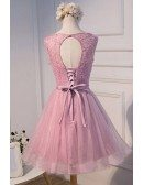Sparkle A-line Scoop Neck Short Tulle Homecoming Dress With Beading
