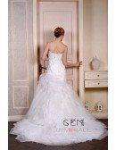 Mermaid Sweetheart Court Train Tulle Wedding Dress With Beading Appliquer Lace Ruffles
