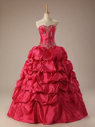 Sweetheart Ballgown Embroidered Formal Dress with Train