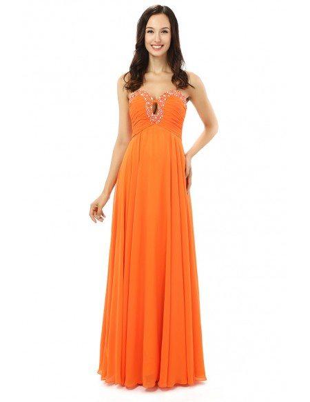 Sheath Sweetheart Floor-length Prom Dress