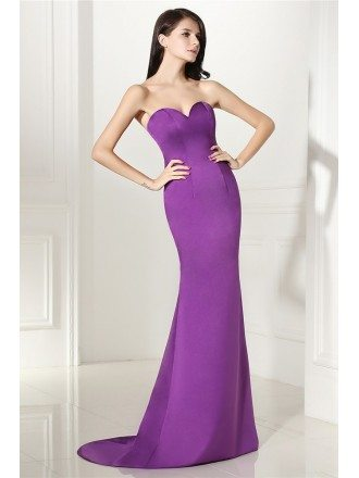 Slim Fitted Mermaid Simple Formal Evening Gown