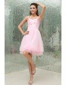 A-line Sweetheart Short Tulle Homecoming Dress With Beading