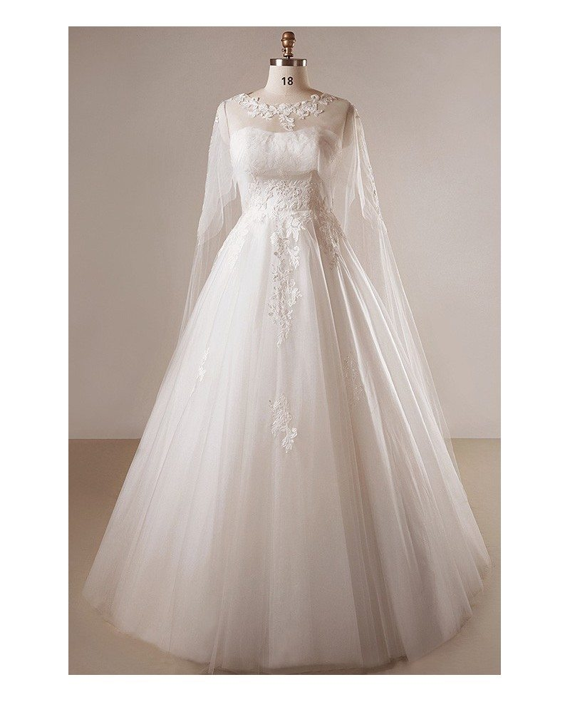 Floor Length Strapless Wedding Dress