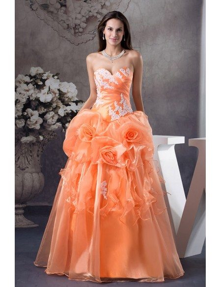 Lace Sweetheart Colored Wedding Dress