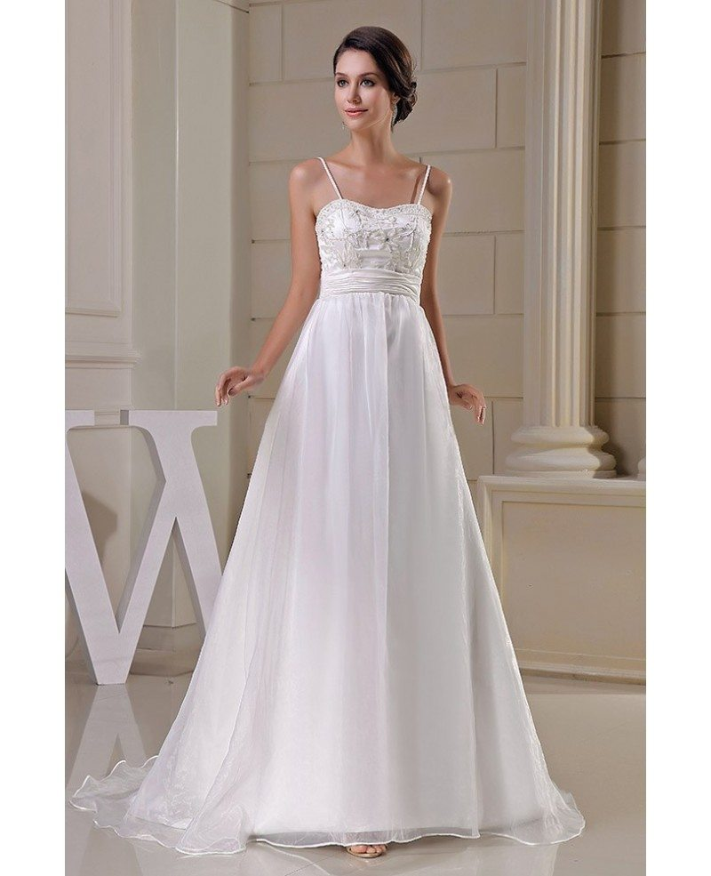 Aline Wedding Gown: Organza Empire Waist Aline Maternity Wedding Dress