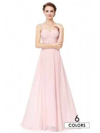 A-line Sweetheart Chiffon Floor-length Bridesmaid Dress With Ruffles
