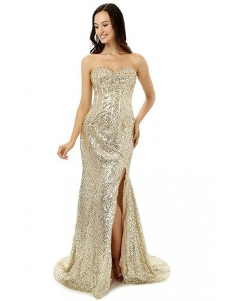 Mermaid Sweetheart Court-train Asymmetrical Prom Dress