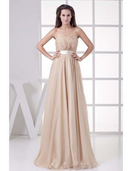 Empire Waist Sweetheart Long Formal Dress Backless